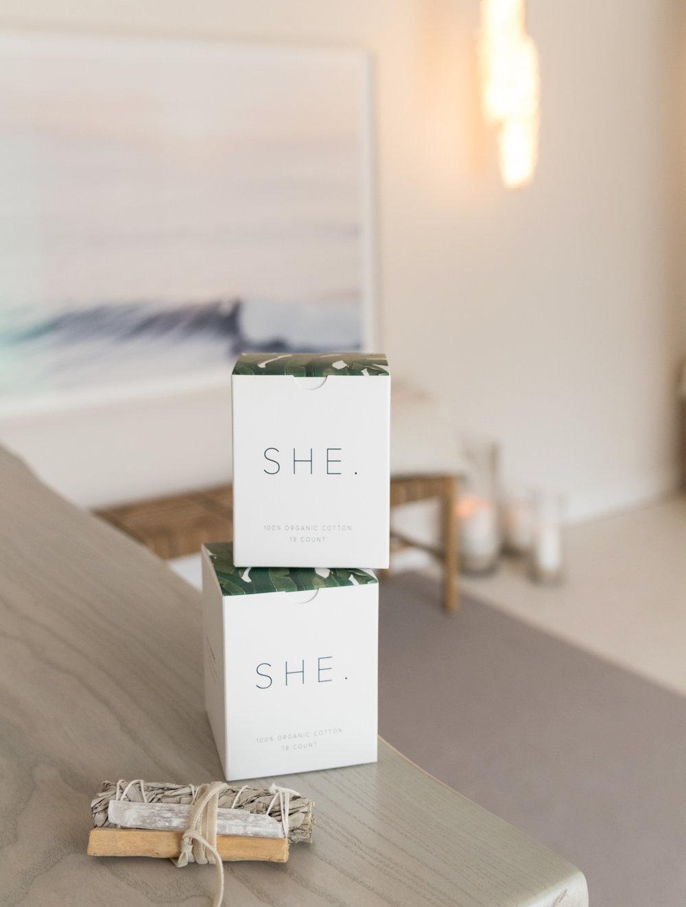 SHE. Organic Tampons