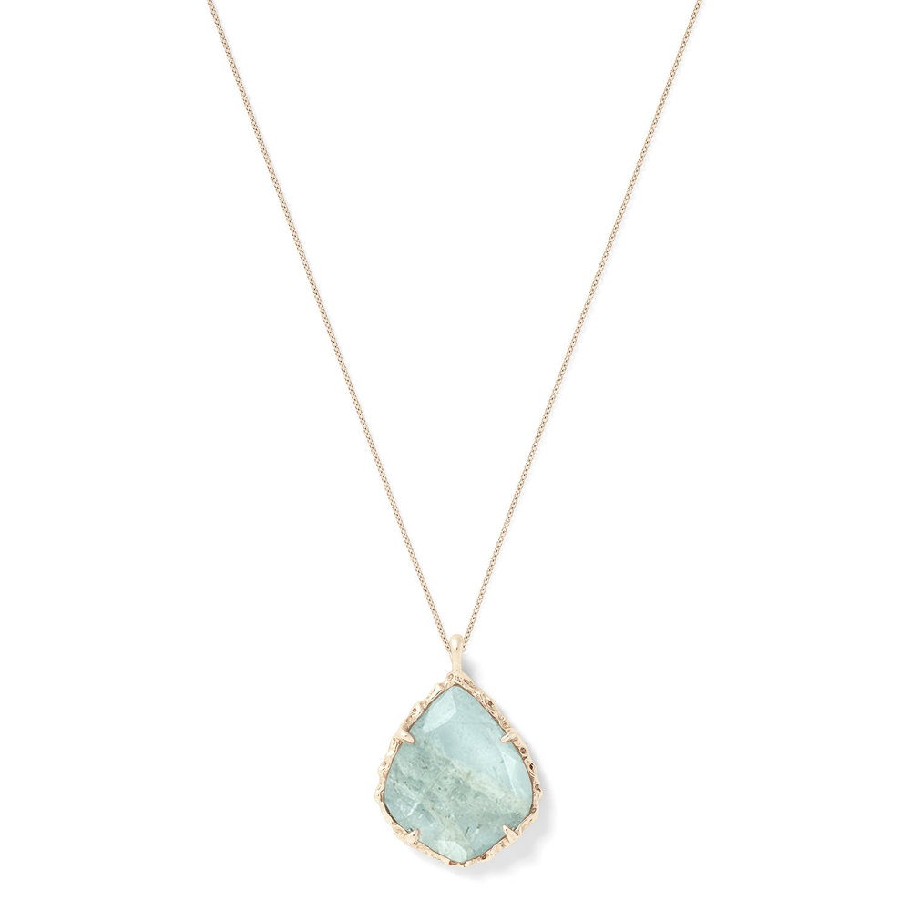 Trapezoid Necklace in Aquamarine
