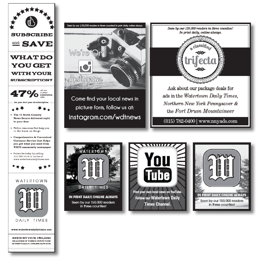 Watertown Daily Times Ad Fillers
