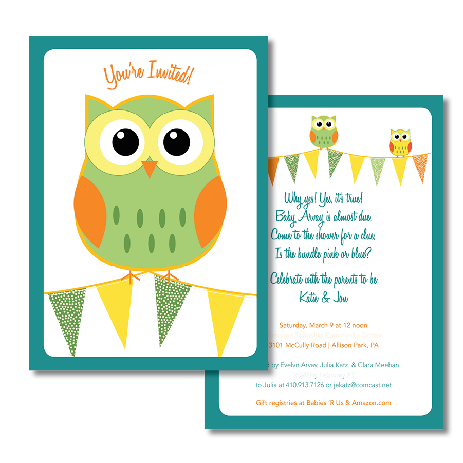 Arvay Baby Shower Invitation
