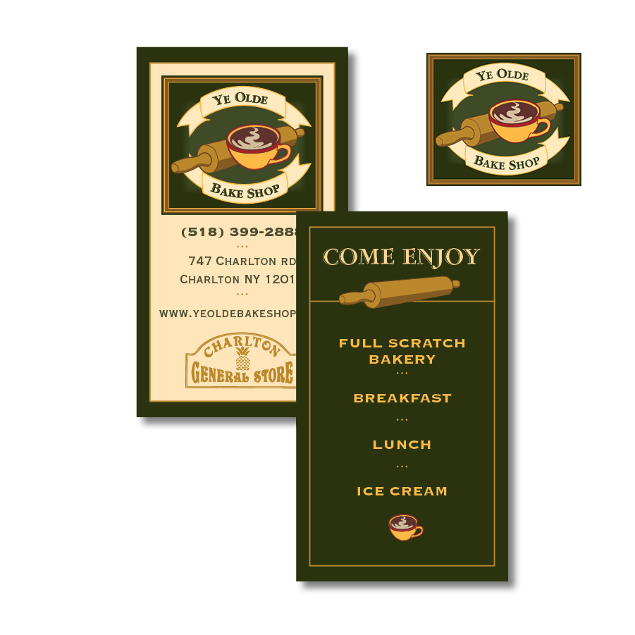 Ye Olde Bake Shop Logo & Business Card