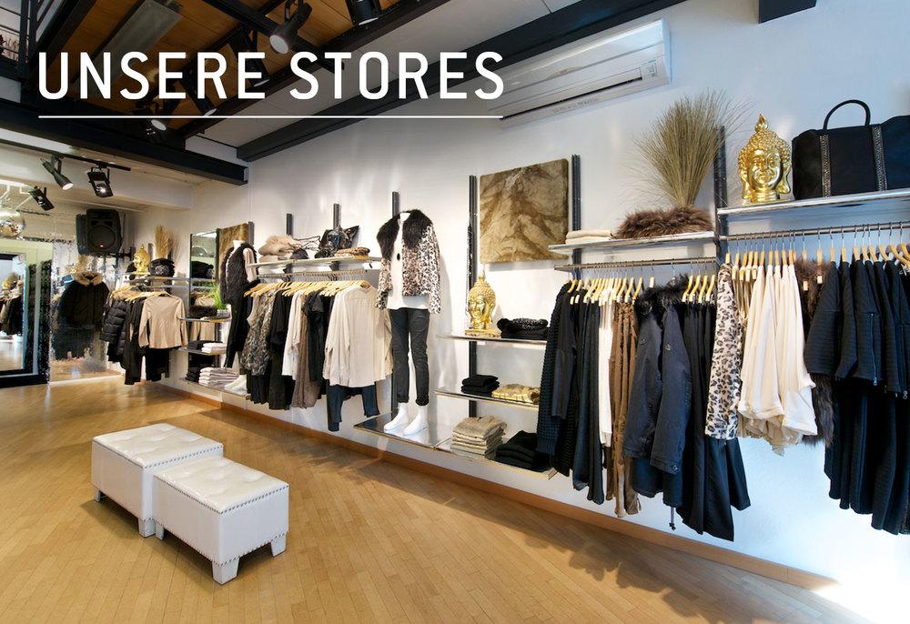Unsere 15 Stores im Überblick