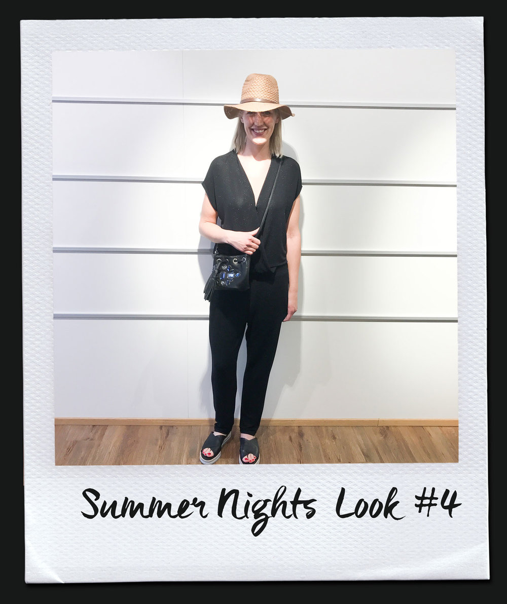 Summer Nights Look #4 Overall, Iheart 249,- Tasche 175,- Hut 19,95 Sandalen, Pomme D´or 245,-