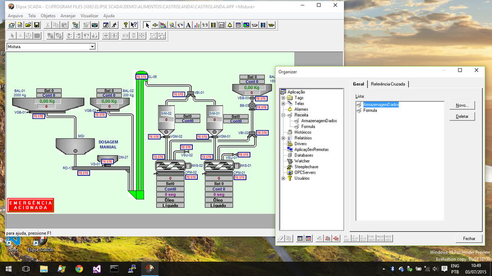 Elipse SCADA no Windows 10