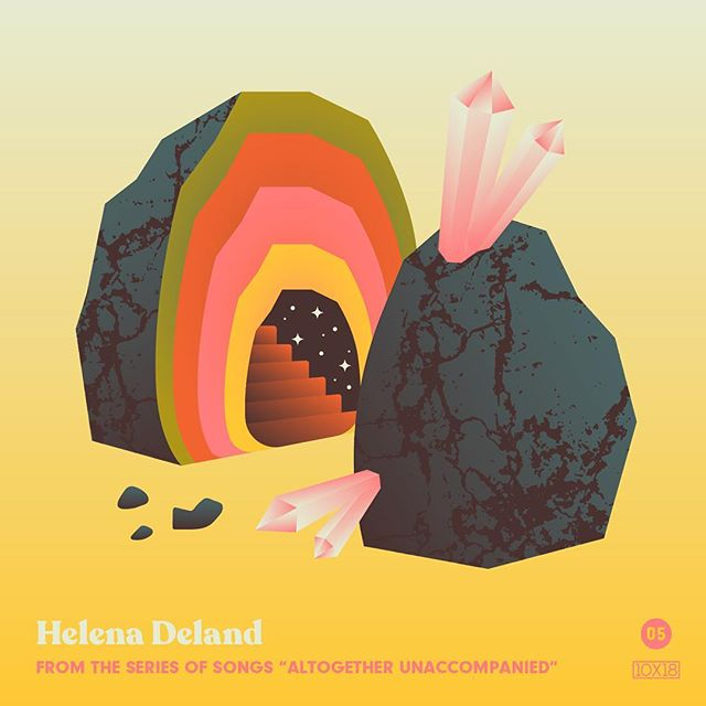 "10x18 Number 5: Helena Deland - From the Series of Songs ""Altogether Unaccompanied"", Fav Track: ""There Are a Thousand"" - Wistful yet powerful, these melancholic songs evolve in the middle of your inner ear. Technically a series of EPs, but this body of work is remarkable. Every song is a banger. - Follow along all week and go check out the insanity by other artists at 10x18.co #10x18 @helena_deland"