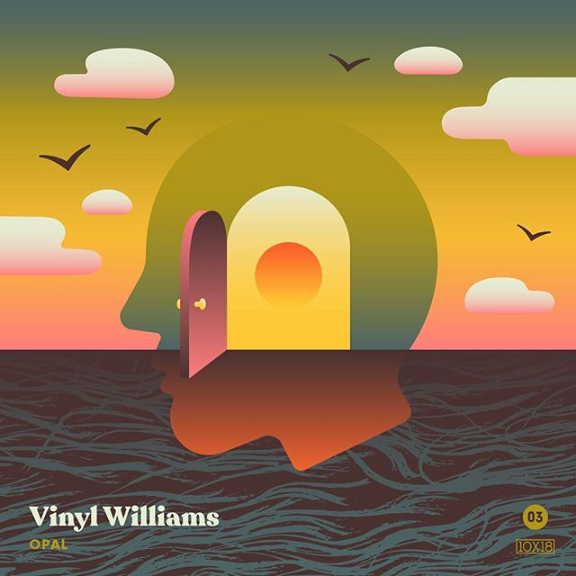 "10x18 Number 3: Vinyl Williams - Opal, Fav Track: ""Lansing"" - Sensual, expansive and groovy as heck. Vinyl Williams continue their existential journey and invite everyone inside. - Follow along all week and go check out the insanity by other artists at 10x18.co #10x18 @vinylwilliams"