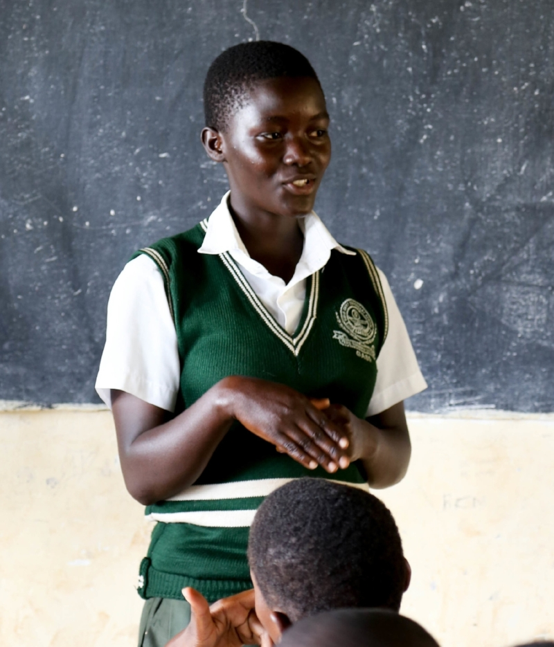 Educate! trains Mentors, teachers, and administrators to identify gender stereotypes faced by students and assists in the creation of strategies for empowering boys and girls equally in the classroom. -