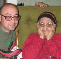 Armando and his grandmother Guadalupe