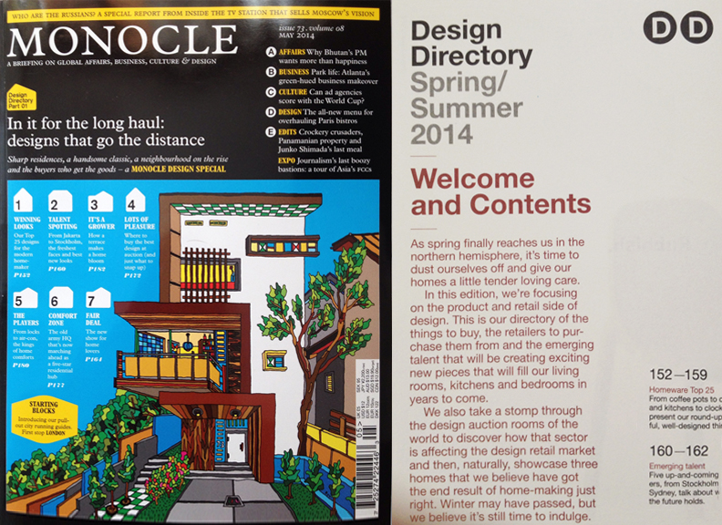 <p><a>MONOCLE MAGAZINE</a>SPECIAL DESIGN ISSUE, MAY 2014</p>