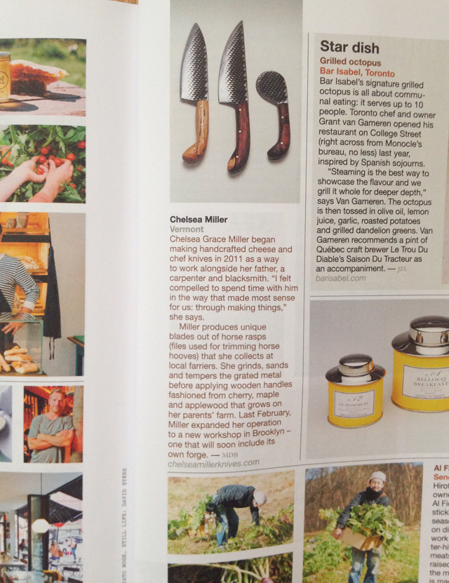 <p><a>MONOCLE MAGAZINE</a>BEST IN FOOD INVENTORY SECTION - MAY, 2014</p>
