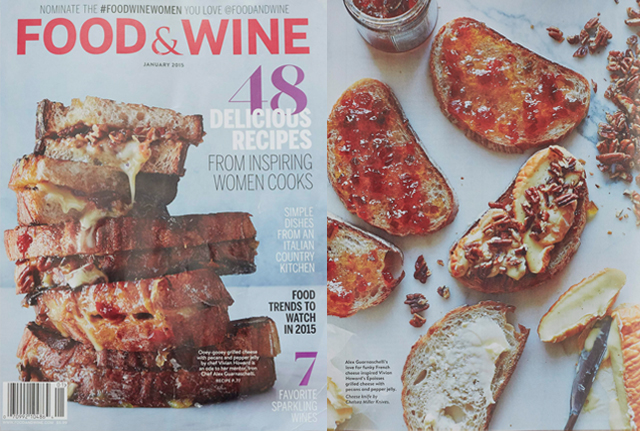 <p><a>FOOD & WINE </a>JANUARY, 2015</p>