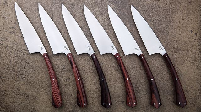 🍽Dinner knives are back and available for holiday delivery. 🎄Sets of 6 and 8 Chelseamillerknives.com