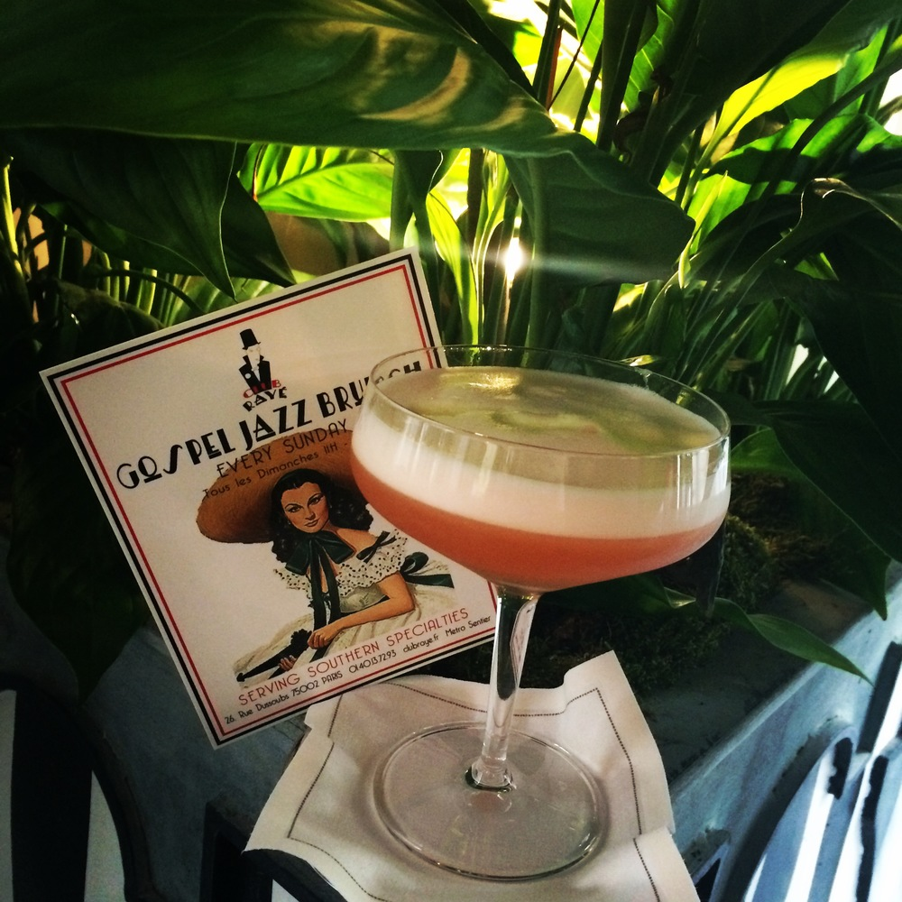 Club Rayé Barmen Marco says : Pourquoi pas ? Natural Spritz Sour , a new take on a classic!