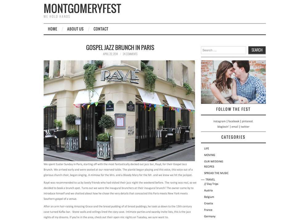 MONTGOMERYFEST Blog April 2014