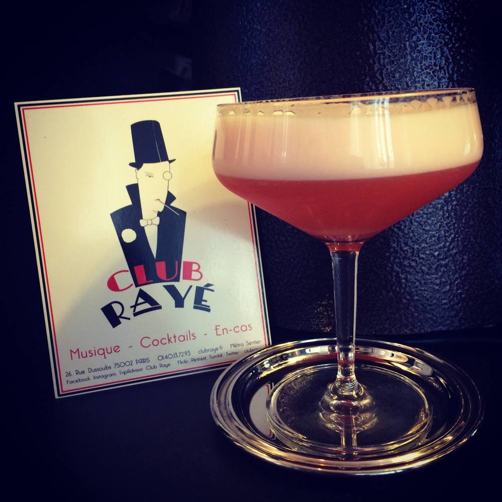 Club Rayé Barmen Marco says : Pourquoi pas ? Second Arrondissement, a mix of Aperol, lemon and sugar syrup !