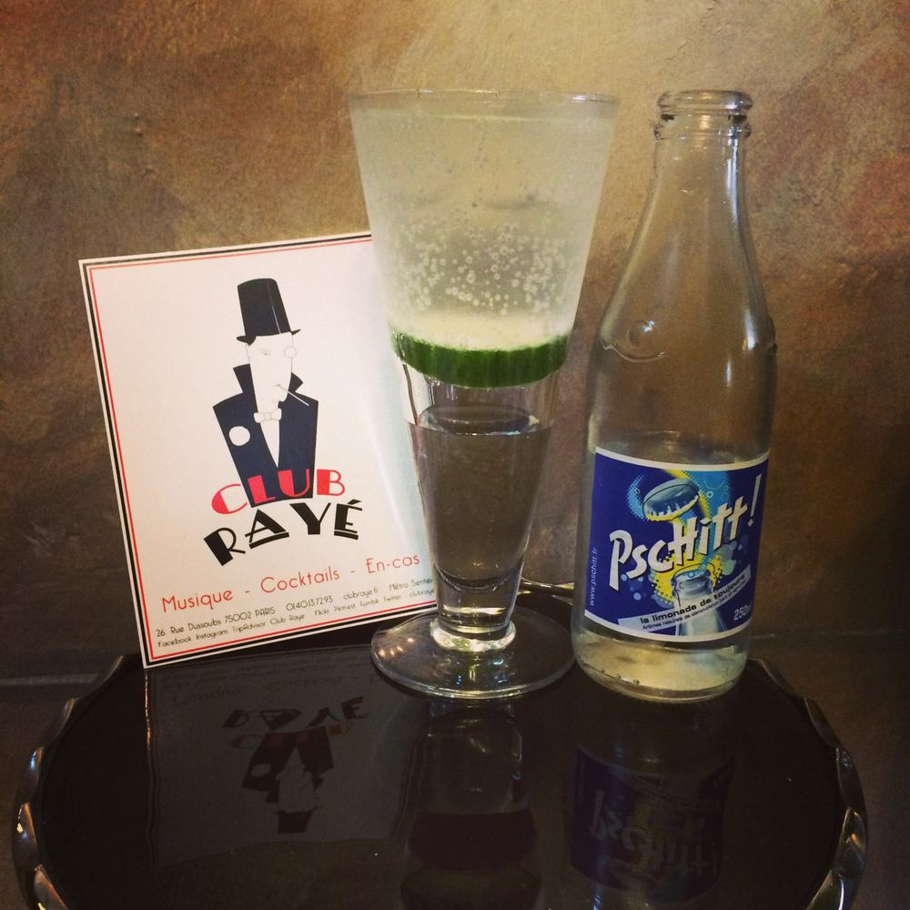 Club Rayé Barmen Marco says : Pourquoi pas ? Cucumber Cooler, a twist of the Gin Tonic !