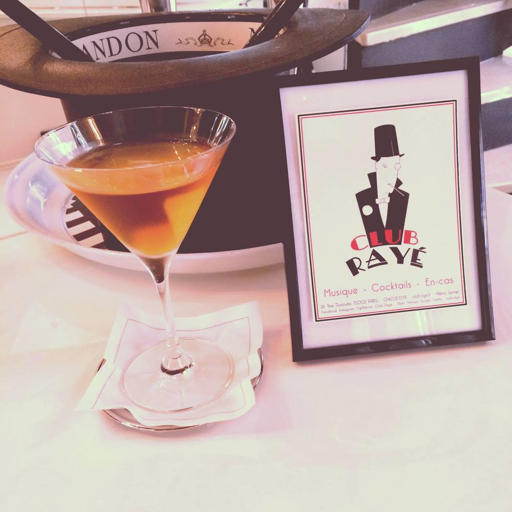 Club Rayé Barmen Franck and Marco say : Pourquoi pas ? MarTeaNi , a classic martini , with Earl Grey infused Vestal Vodka !