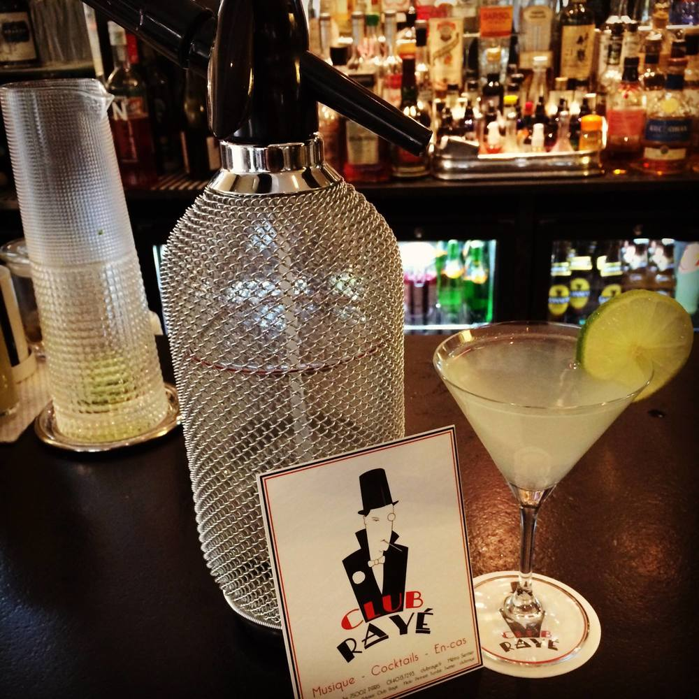 Club Rayé Barmen Franck and Marco says: Gin fizz, oldie , but still goldie