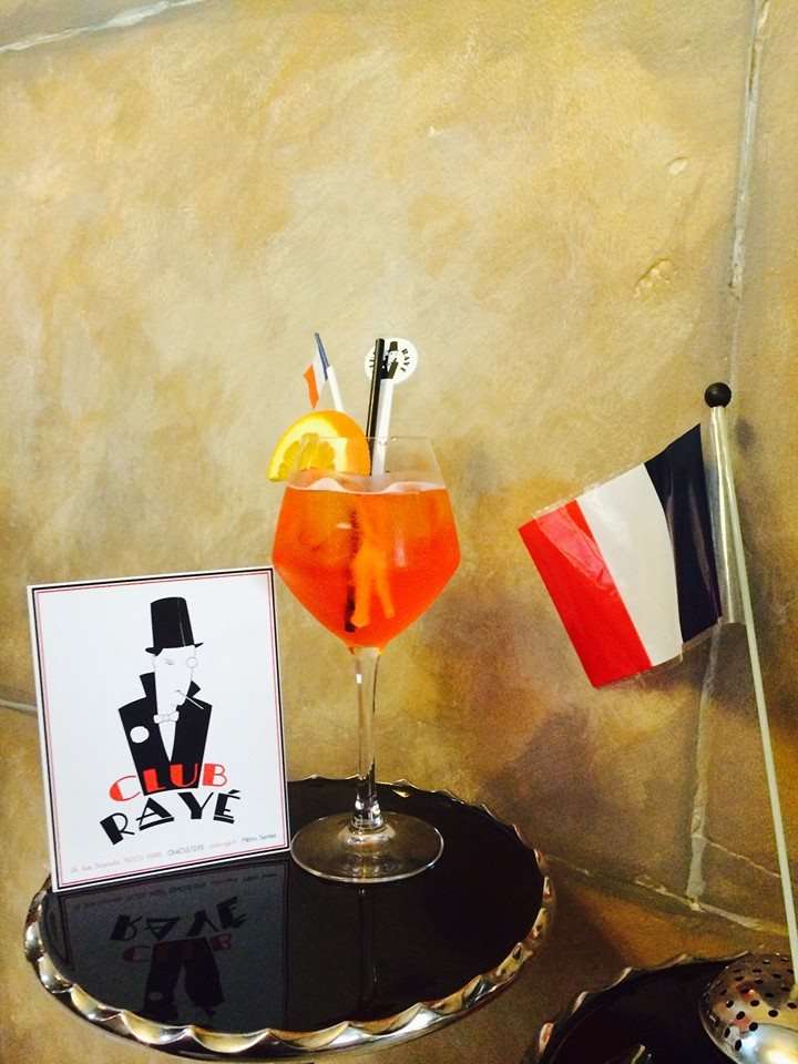 "Maestro Marco says : ""pourquoi pas?"" try his refreshing Aperol Spritz at Club RaYe."