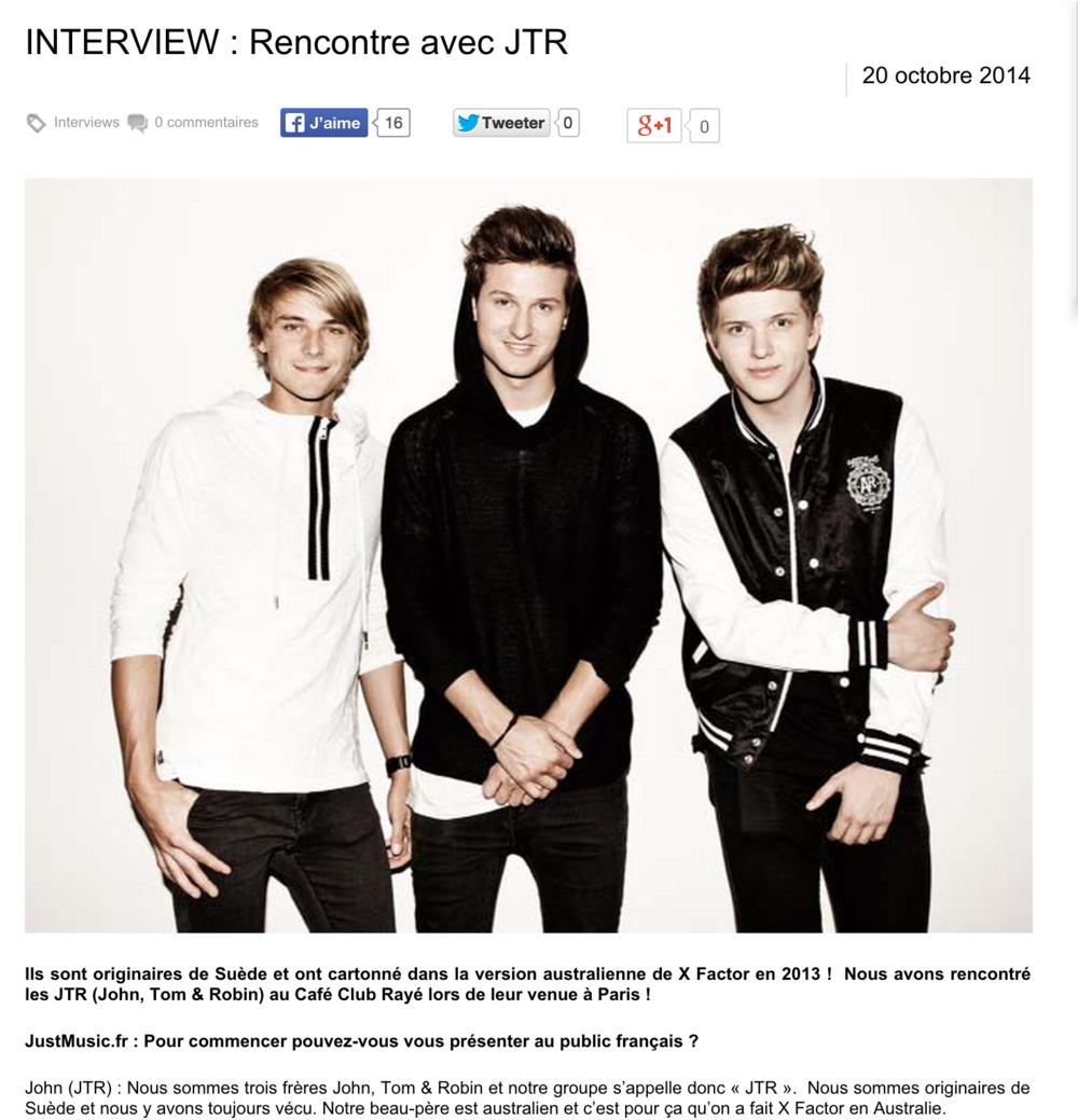 JustMusic.fr interviews JTR at Club Rayé