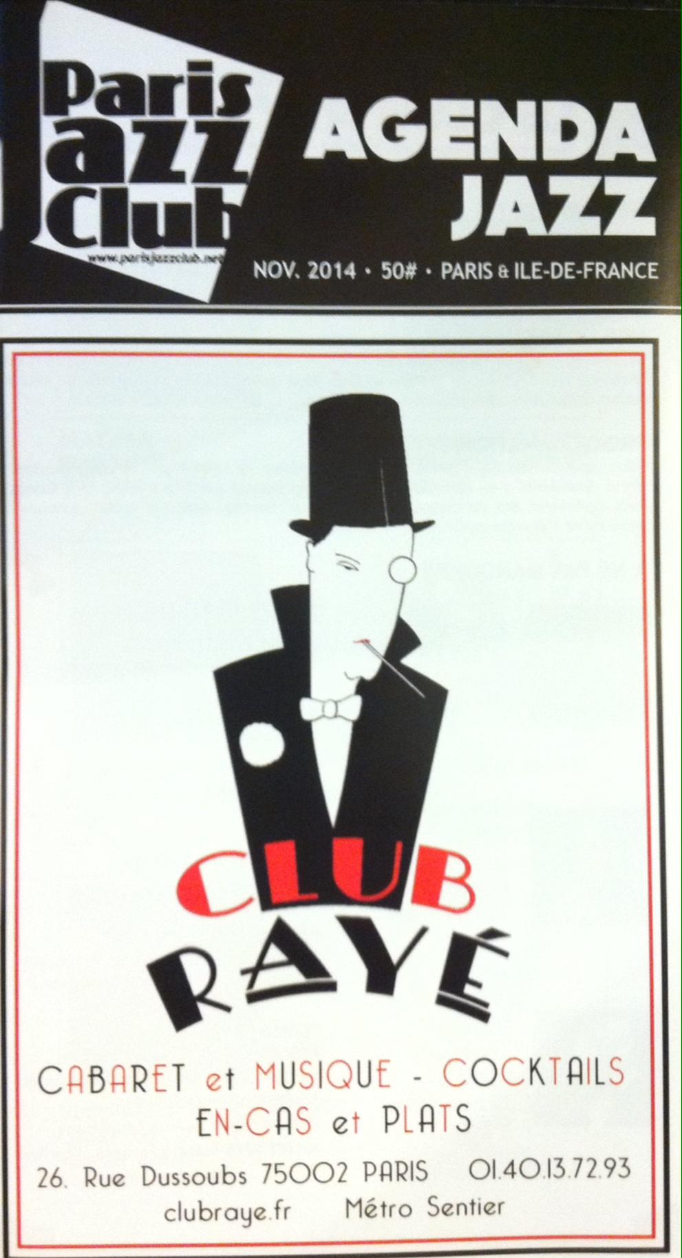 Paris Jazz Club magazine featuring Club RaYe