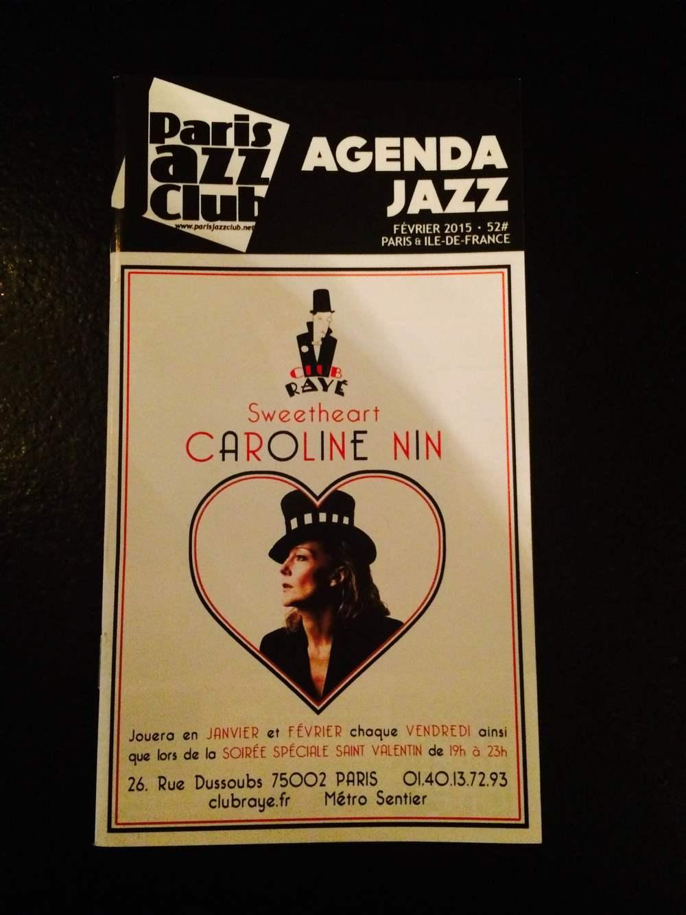 Paris Jazz Club - February 2015
