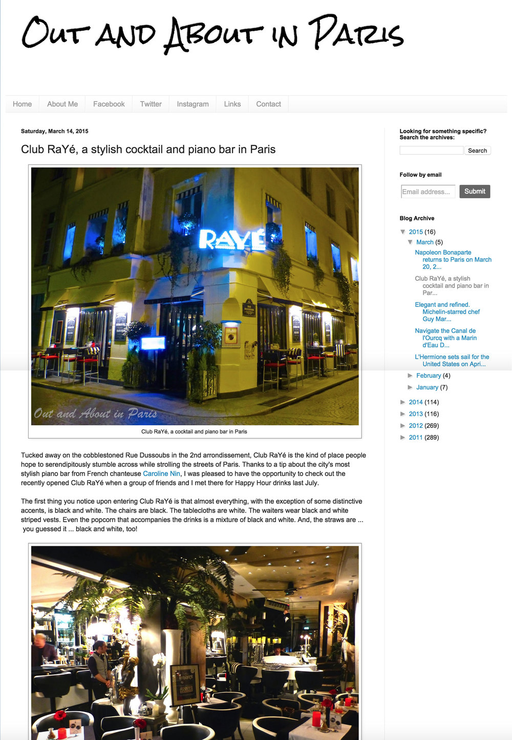 Out and about in paris - Mars 2015