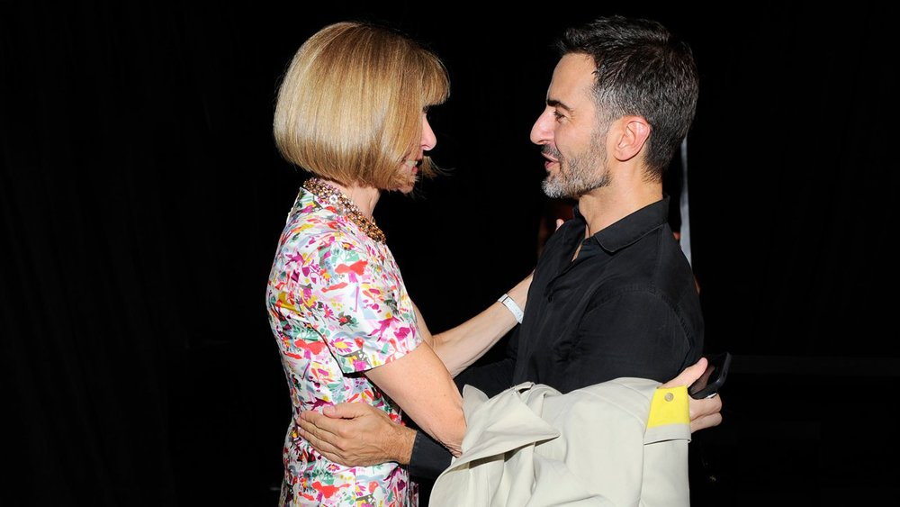 Anna Wintour and Marc sharing a moment backstage
