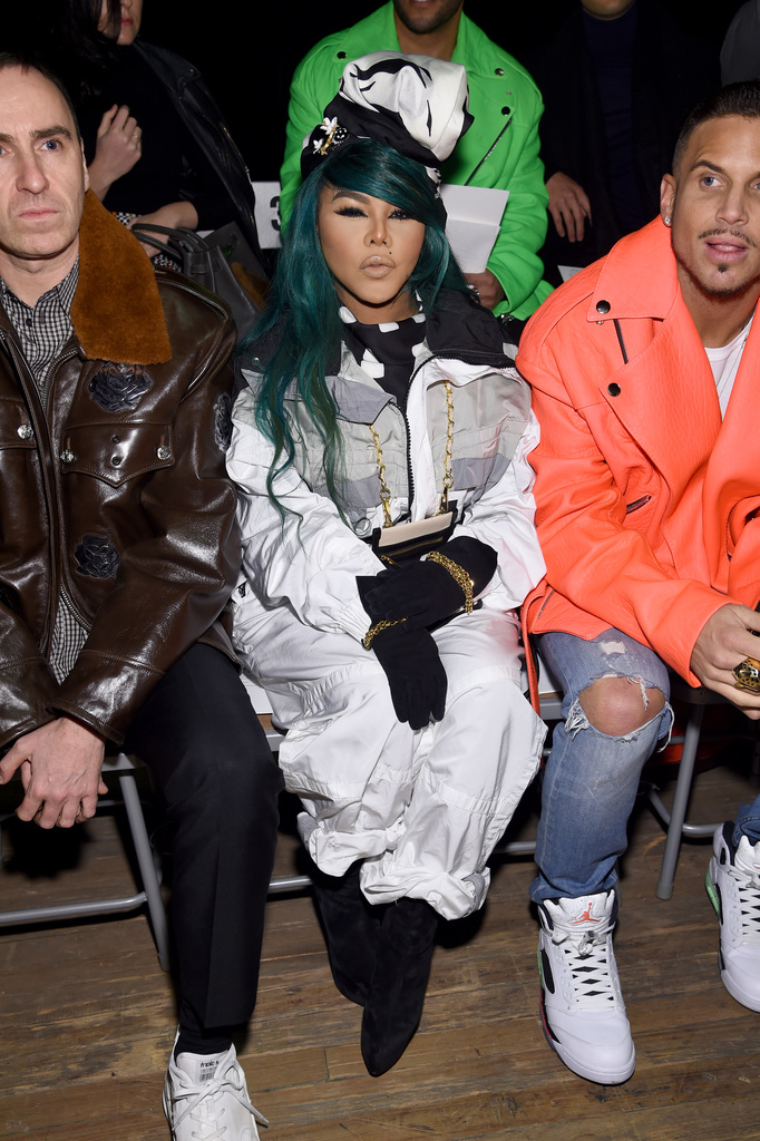 Raf Simons, Lil Kim and Charlie DeFrancesco