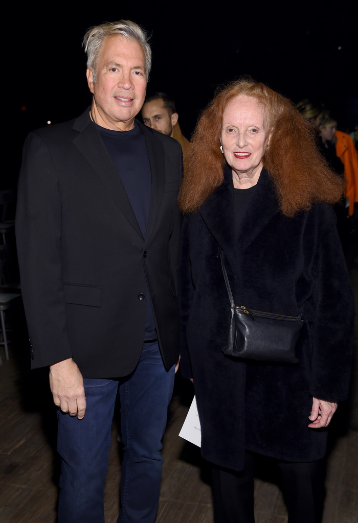 Robert Duffy and Grace Coddington