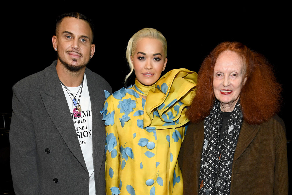 Char DeFrancesco, Rita Ora and Grace Coddington.JPG