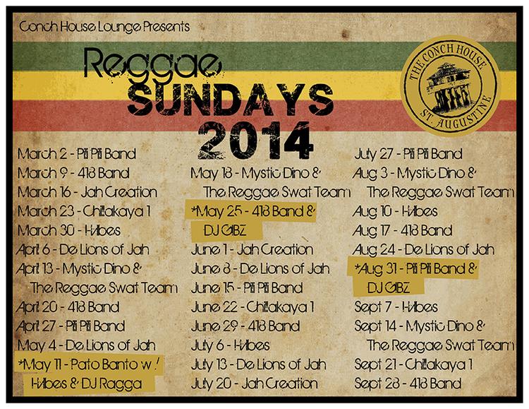 Reggae Sunday Conch House