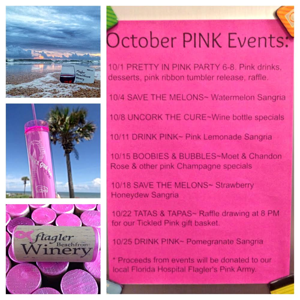 Flagler Beachfront Winery October PINK Events