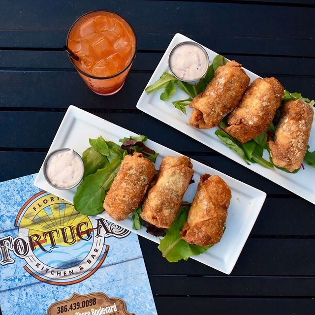 This #RumRunner and Baja Egg Rolls are the truth @tortugasflaglerbeach in #FlaglerBeach #PalmCoast #FlaglerLife #FlaglerBars