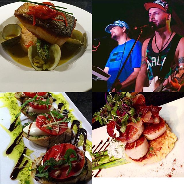 Join 2 top Chefs for Dinner!  Wines... Martinis & Cocktails... All to pair with amazing Fresh and Local Cuisine under way now @cellar6!  Award Winning Pan Seared Salmon over Jasmine Rice with Mussels over Coconut Curry Cream Sauce 🍴 Pan Seared U - 10 Diver Scallops 🍴C6 Bruschetta🍴$6 off #cellar6 9oz Angus Filet over Truffle Mash and Roasted Asparagus and tons more! 🍴🍻🍸✌🏼️🍴🍻🍸✌🏼🍴🍻🍸✌🏼🍴🍻 #staugustine #flagler #flaglercollege #flaglerlife #flaglerbars