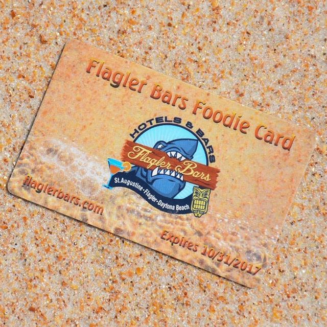 What is the #FlaglerBarsFoodieCard?  It's a way to #SupportLocal businesses & to save some money.  Buy one, present it to one of our #FlaglerBars Members and save!  AND all profits from the card will be going towards locals who need some help after #HurricaneMatthew until further notice. #FlaglerBeach #Flagler #FlaglerCollege #FlaglerAve #NSB #NewSmyrnaBeach #OrmondBeach #A1ABeachBars #FlaglerLife #FlaglerBars