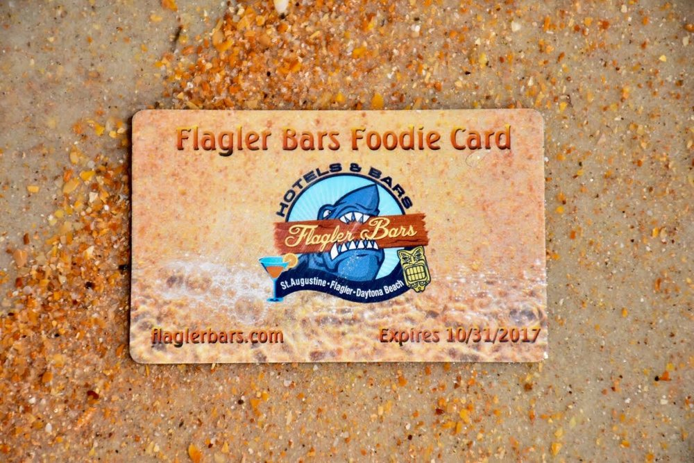 Flagler Bars Foodie Card Coupons and Perks for Volusia Flagler & St. John's Counties