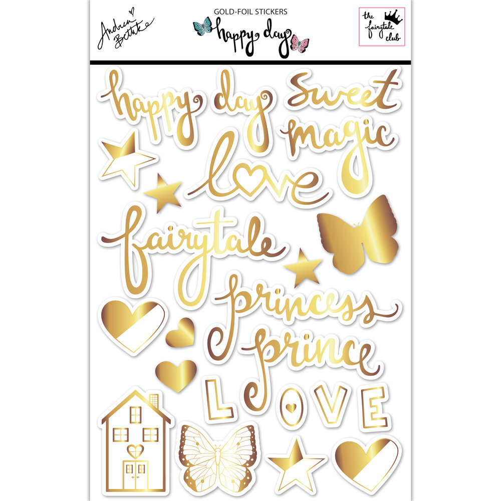 Happy Day -  gold-foil sticker sheet with packaging and shadows square.jpg