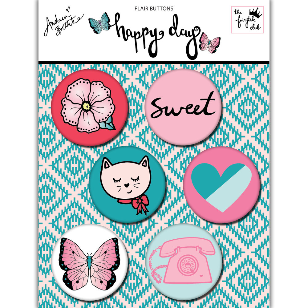 Happy Day - Flair Buttons with packaging square.jpg