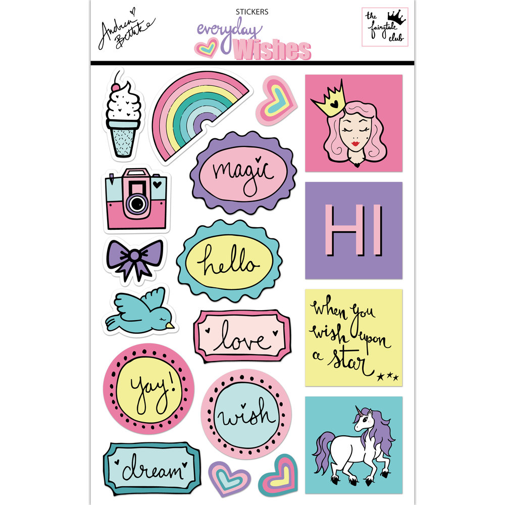 Everyday wishes sticker sheet