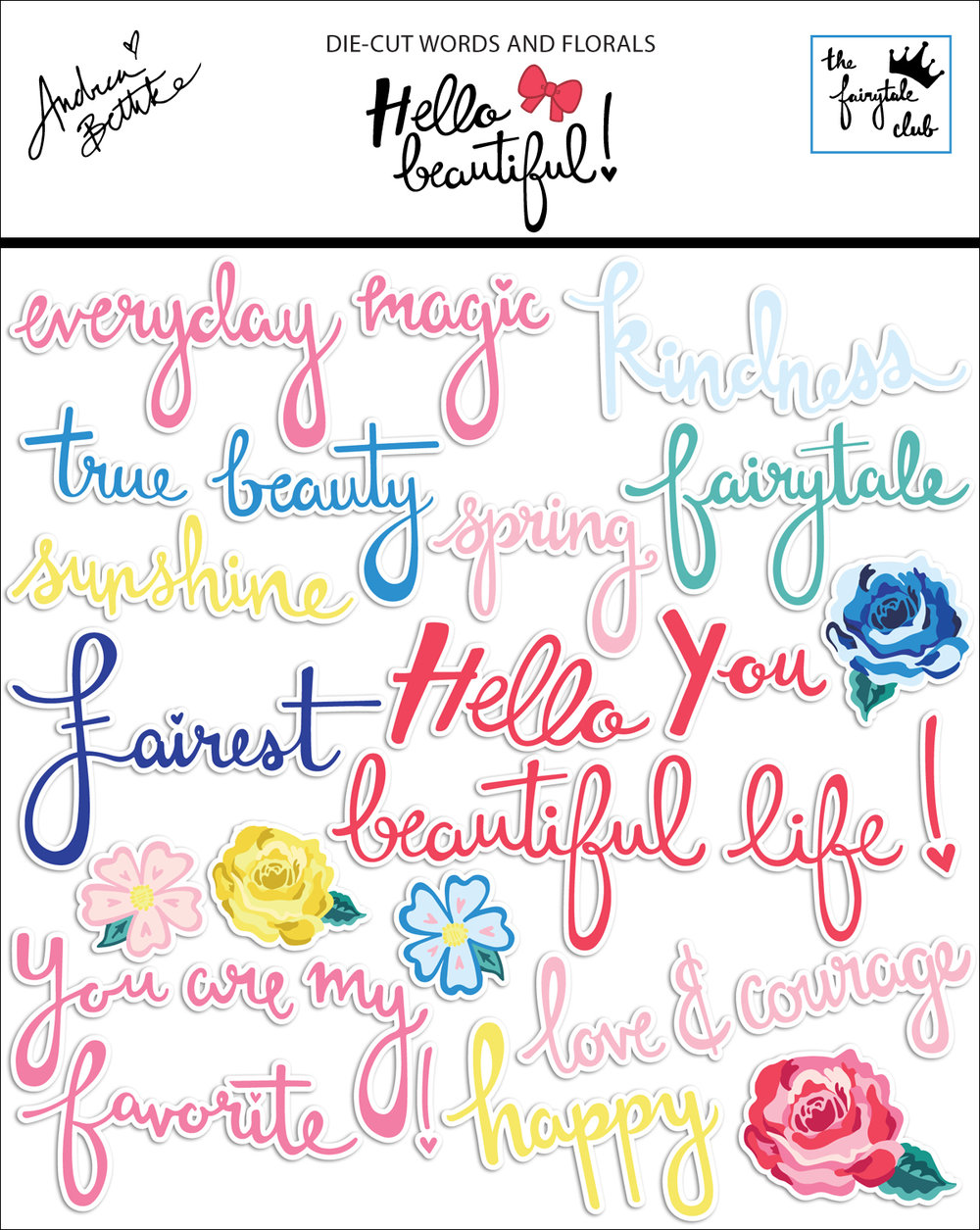 Hello Beautiful - Die Cut Words and Florals with packaging.jpg