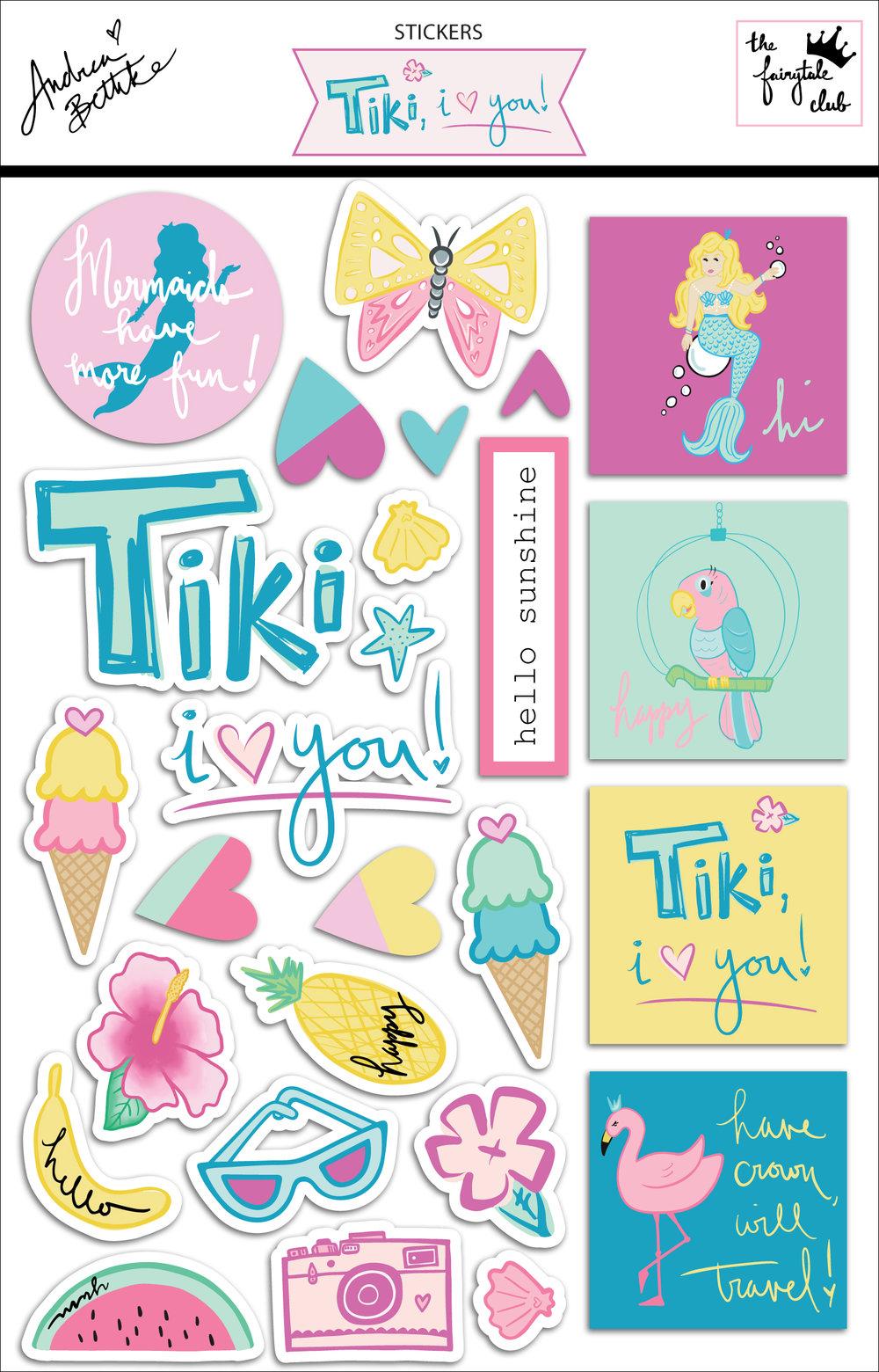 Hello Beautiful - sticker sheet with packaging.jpg
