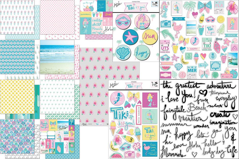 Tiki, I Love You - Scrapbook Kit Block.jpg