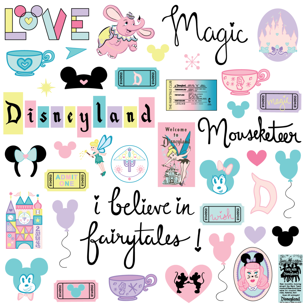 The Wonderful World of Disney Digital Collection - Die Cut Ephemera Pack.png