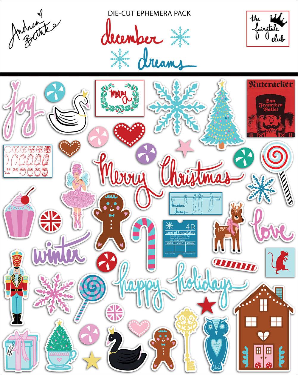 December Dreams - Die Cut Ephemera Pack with Package.jpg