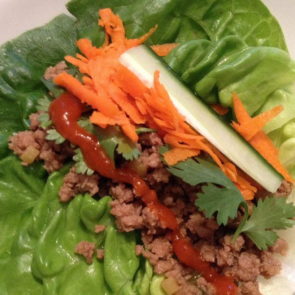 Turkey Lettuce Wraps from JenniferJuniper.net