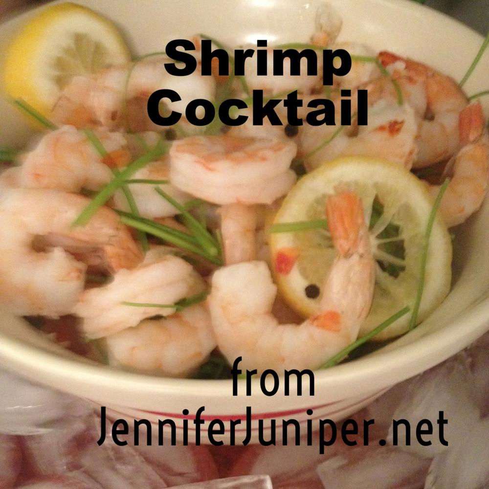 Shrimp Cocktail from JenniferJuniper.net