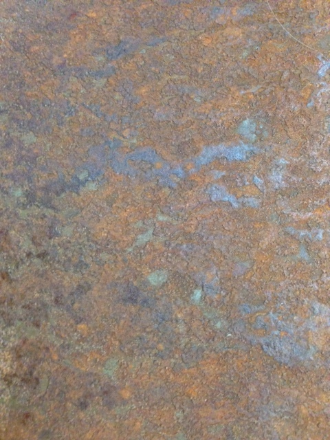 Rusted steel with a rough texture