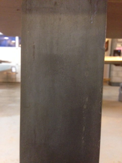 Raw flat bar steel