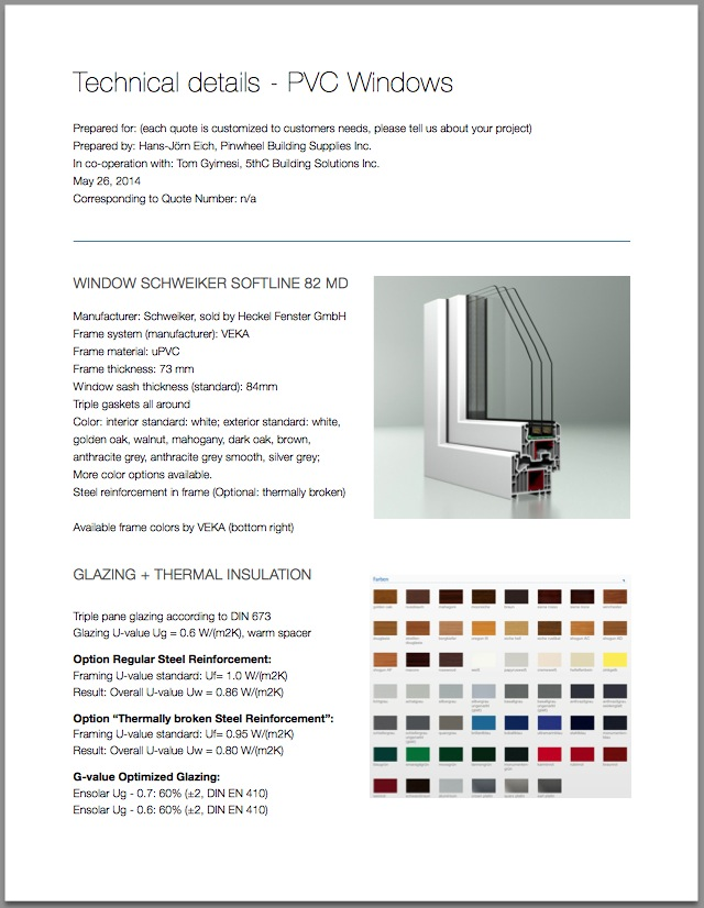 Download a Technical Summary of uPVC Windows